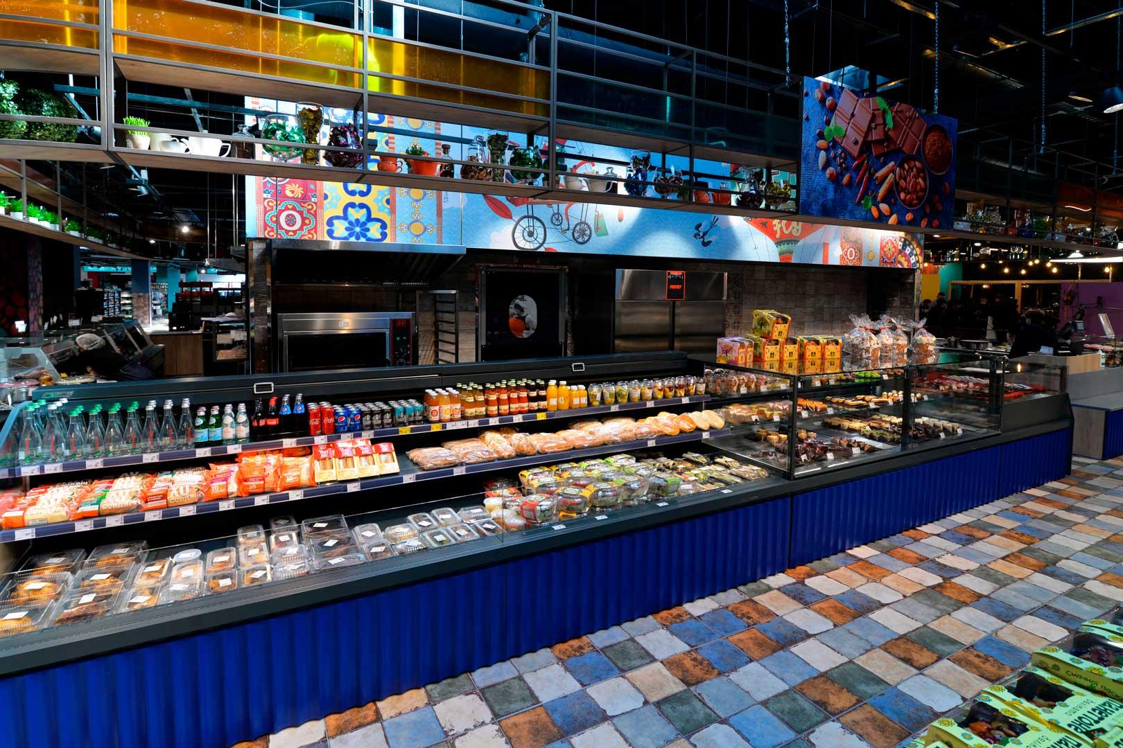 """Холодильная витрина Missouri MC 120 cascade M, супермаркет """"Эпицентр"""", Киев"""