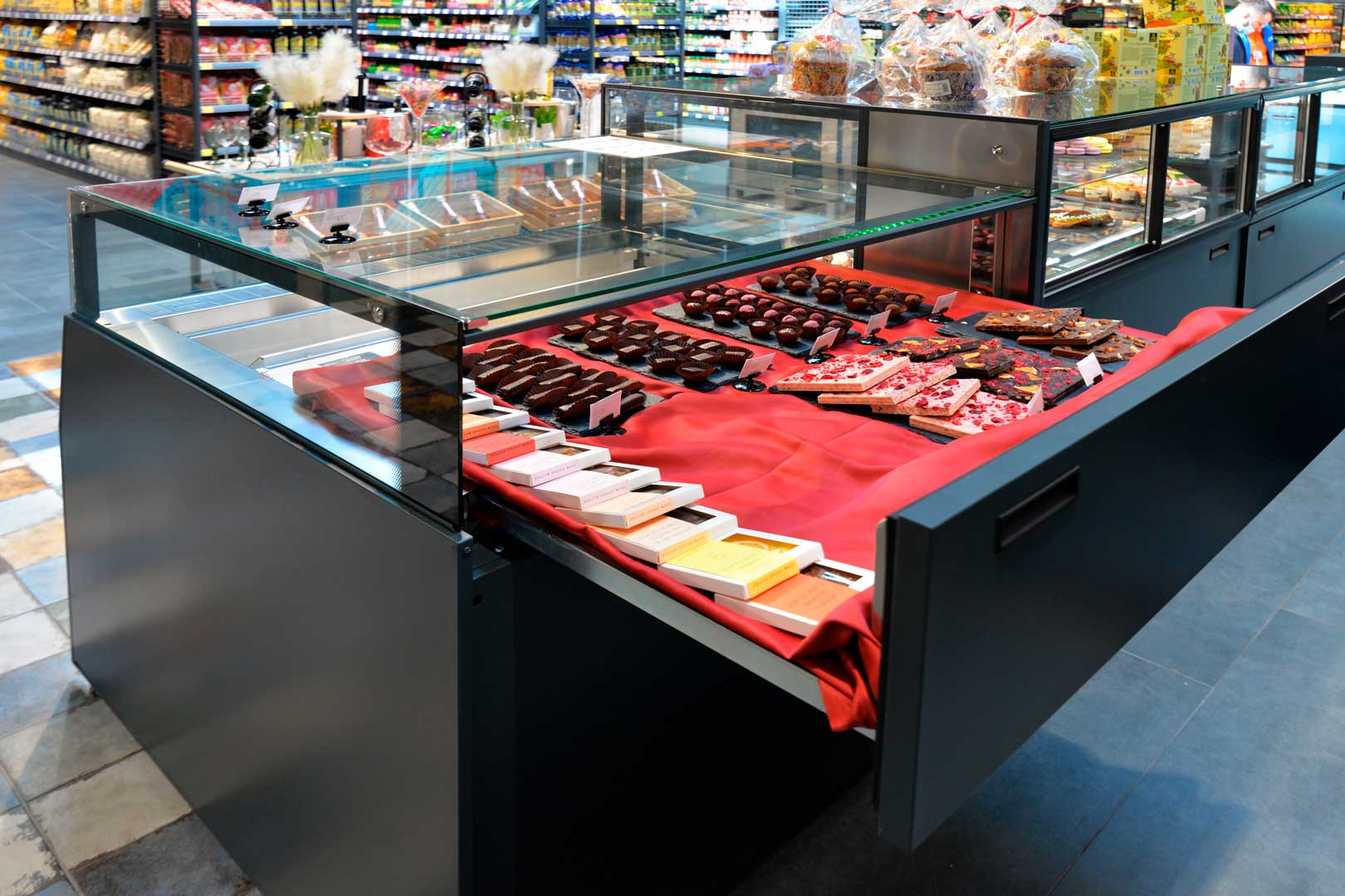 """Counter for confectionery products Missouri MC 120 patisserie СН SP M/A, supermarket """"Epicentr"""" Kiev"""
