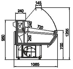 Kühlvitrinen Carolina AG 108 deli 125-SBA