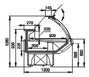 Kühlvitrinen Georgia AG 120 deli PS 126-DBA