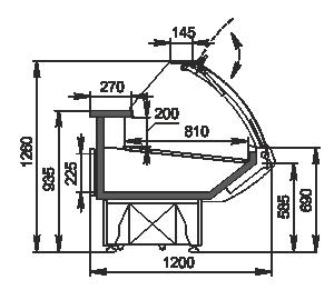 Kühlvitrinen Georgia AG 120 deli PS 126-SBA