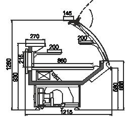 Kühlvitrinen Georgia AG 120 patisserie PS 126-DLA