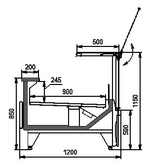 Холодильная витрина Missouri MC 120 deli PS 115-DBM