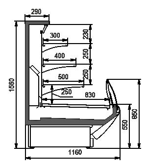 Холодильная витрина Counters Symphony MG 120 cascade self 125-DLM