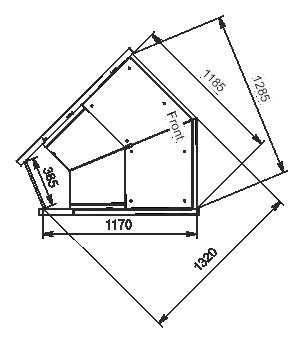 Угловые эленты холодильных витрин Missouri MC 120 deli PP/PS/self 130/086-DLM-ES45