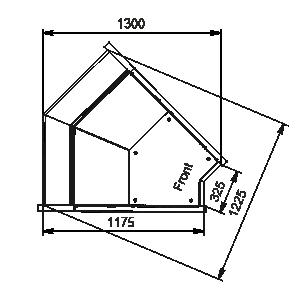 Кутові елементи холодильних вітрин Missouri MC 120 deli PP/self 130/086-DLM-IS45