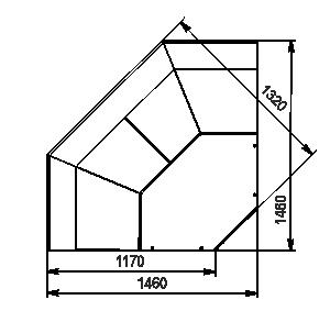 Кутові елементи холодильних вітрин Missouri MC 120 deli PS 115-DBM-IS90
