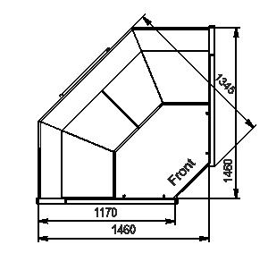 """Кутові елементи холодильних вітрин Missouri MC 120 deli PS 130-DBM-IS90"""""""
