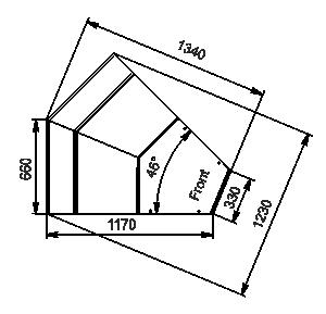 Кутові елементи холодильних вітрин Missouri MC 120 deli PS 130-DLM-IS45