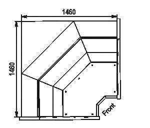 Кутові елементи холодильних вітрин Missouri MC 120 deli PP/self 130/086-DLM-IS90