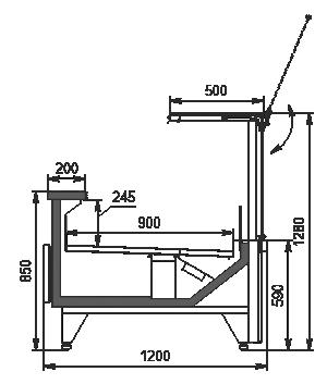 Холодильна вітрина Missouri MC 120 deli PS 130-DBM