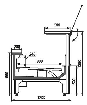 Холодильна вітрина Missouri MC 120 deli PS 130-DLM