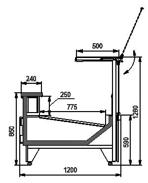 Холодильна вітрина Missouri MC 120 deli PS 130-SBM
