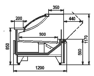 Kühlvitrinen Missouri MC 120 deli OS 2 120-DBM (option)