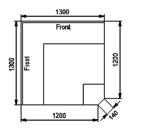 Eckelemente der Kühlfenstern Missouri MC 120 deli PS/self 130/086-DLM-EL90