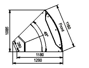 Eckelemente der Kühlfenstern Missouri MC 120 deli PS 130-DLM-ER45