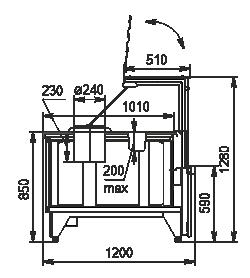Kühlvitrinen Missouri NC 120 tureen 2 PP 130 option