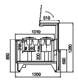 Kühlvitrinen Missouri NC 120 tureen PP 130