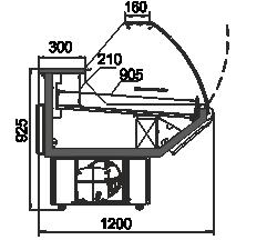 Kühlvitrinen Minnesota AG 120 deli OS 122-DBA