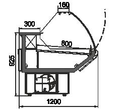 Kühlvitrinen Minnesota AG 120 deli OS 122-SBA