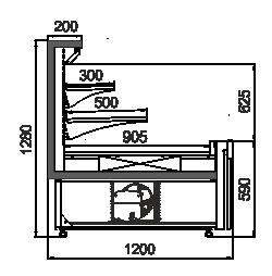 Kühlvitrinen Missouri AC 120 cascade self 130-DLA