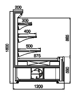 Kühlvitrinen Missouri AC 120 cascade self 160-DLA