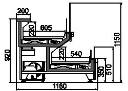 Kühlvitrinen Missouri AC 120 combi L A