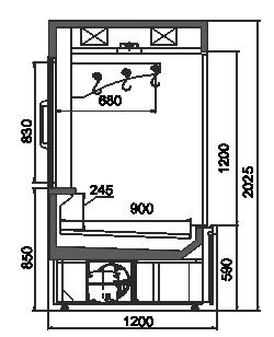 Kühlvitrinen Missouri AC 120 crystal S 203-D/DLA