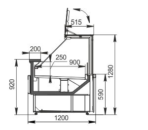 Kühlvitrinen Missouri АC 120 deli PP 130-DBА