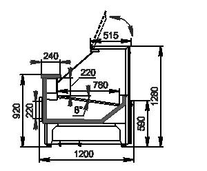 Kühlvitrinen Missouri АC 120 deli PP 130-SBА
