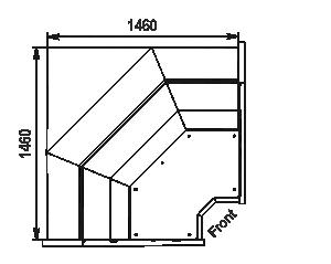 Kühlvitrinen Missouri АC 120 deli PP/self 130/092-DBА-IS90