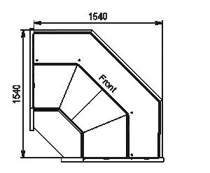 Kühlvitrinen Missouri AC 120 deli PP/PS/self 130/092-DBA-ES90