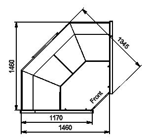 Kühlvitrinen Missouri АC 120 deli PS 130-DBА-IS90