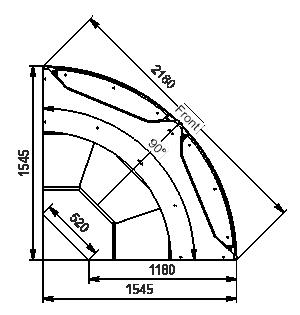Холодильная витрина Missouri АC 120 deli PS 130-DLА-ER90
