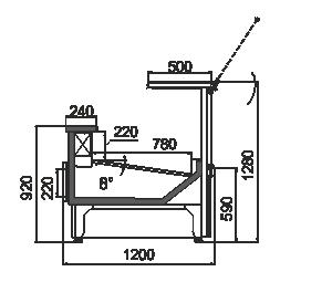 Вітрины Missouri АC 120 deli PS 130-SBM/SBA