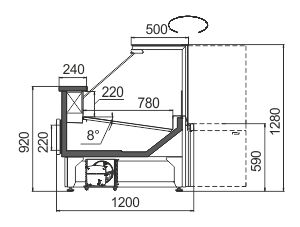 Вітрини Missouri АC 120 deli RS 130-SBА