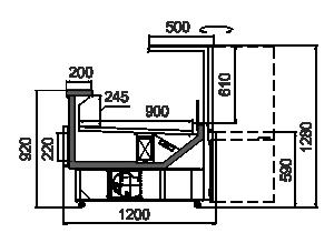 Kühlvitrinen Missouri АC 120 deli RS 130-DBА