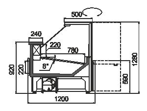Kühlvitrinen Missouri АC 120 deli RS 130-SBА