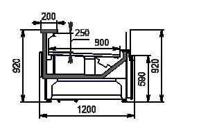 Kühlvitrinen Missouri АC 120 deli self 092-DBА