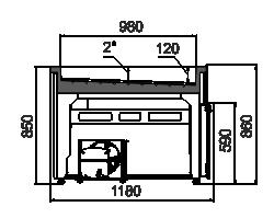 Kühlvitrinen Missouri AC 120 ice self 086-SLA