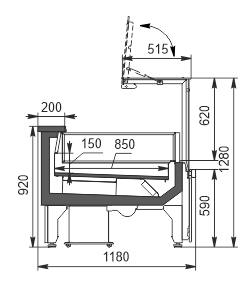 Refrigerated counters Missouri AC 120 LT PP 130-DLA