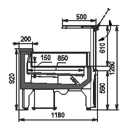 Refrigerated counters Missouri AC 120 LT PS 130-DLA