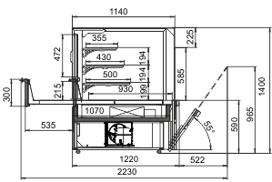 Kühlvitrinen Missouri AC 120 patisserie OS 140-DLA