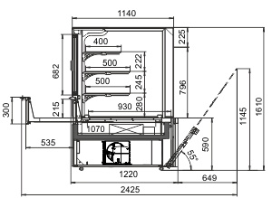 Kühlvitrinen Missouri AC 120 patisserie OS 160-DLA