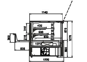 Kühlvitrinen Missouri AC 120 patisserie PS 130-DLA