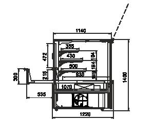 Kühlvitrinen Missouri AC 120 patisserie PS 140-DLA