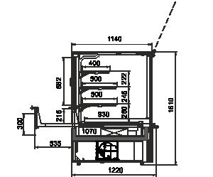 Kühlvitrinen Missouri AC 120 patisserie PS 160-DLA
