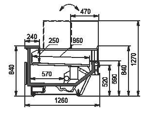 Refrigerated counters Missouri cold diamond MC 126 deli convertible 130-DBM