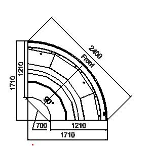 Угловой элемент Missouri cold diamond MC 126 cascade self 130-DLM-ER90