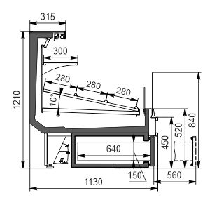 Холодильна вітрина Missouri cold diamond MC 115 cascade VF self 121-DBA (option)